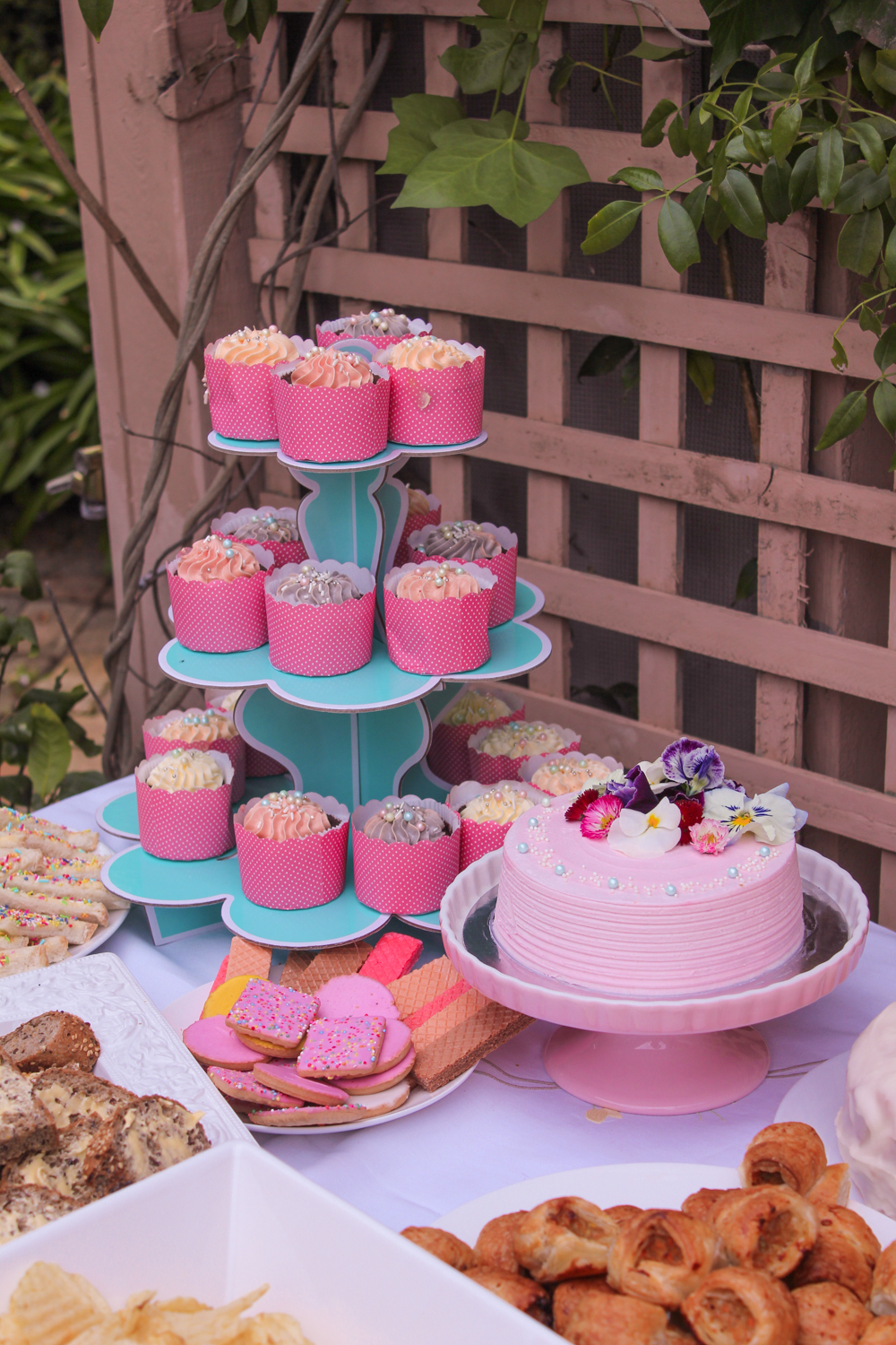 Spring these cupcakes and birthday cake by Pretty special Cakes