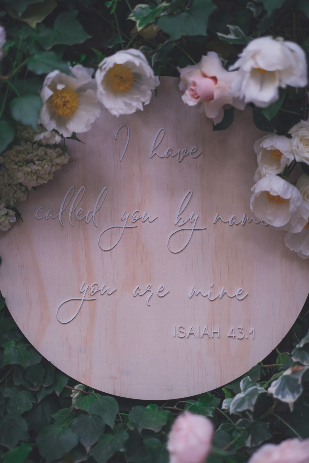 Bible verse engraved on wooden sign for Goldfields Girl Baby Christening Blessing Dedication Day